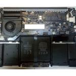 На MacBook разлили жидкость(